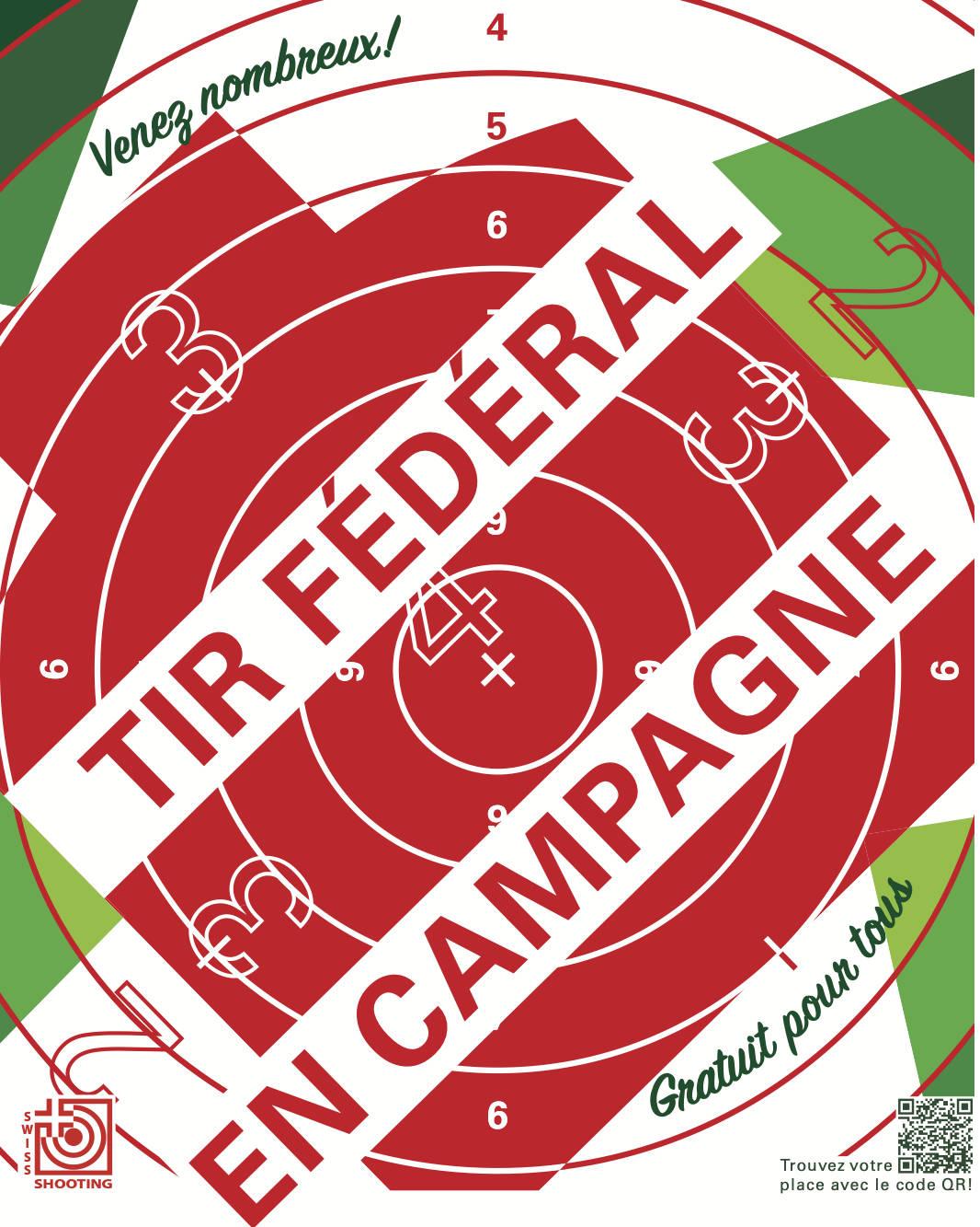 Affiche du tir fédéral en campagne.